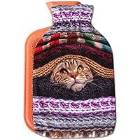 Wärmflasche mit Motiv 2 Liter, Wärmekissen mit abnehmbaren Flauschigen Bezug in vielen Variationen (Auswahl: Katze... preisvergleich bei billige-tabletten.eu
