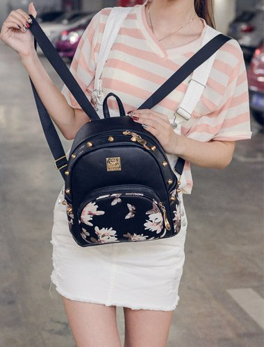 Donalworld, Borsa a zainetto donna Pattern15 s Black2