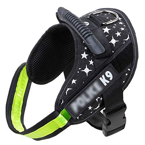 DD Haustierprodukte Vest Hund Halskragen Brustgurt S Black Starry Sky - Black-box Quick Connect