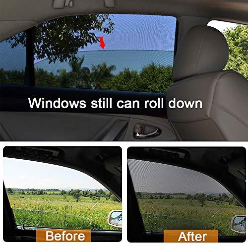 Vorcool auto parasole Extender auto antiriflesso Tinted Windshield Extender Sun raggi UV Block visiera Extender