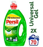 Persil Universal Gel, Flüssigwaschmittel mit Tiefenrein-Technologie, 2er Pack (2 x 70 Waschladungen)