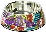 Hunter 92094 Melamin-Napf 700 ml, gemustert tropical violett