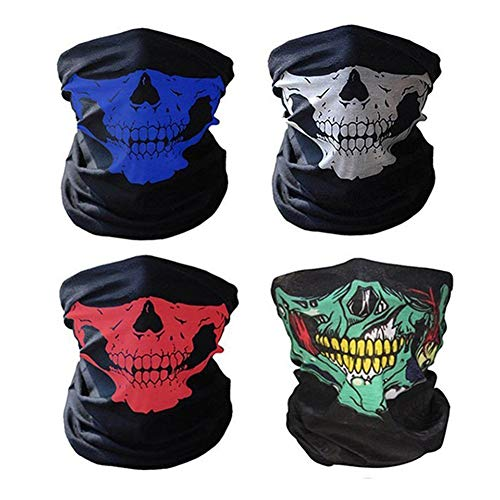 Pasamontañas Calavera Ciclismo Máscara Máscaras de media cara perfecta transpirable Tioamy esqueleto tubo máscaras para moto piscina equitación y por Hallowmas