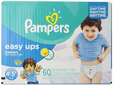 Pampers Boys Easy Ups Training Underwear 4T-5T (Size 6), 60 Count (Old Version) by Pampers
