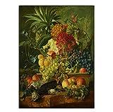 Knncch Home Decoration Print CanvasWandkunstPoster ÖlZeichnungen Paitings Bild Blumenstrauß In Einer Vase Dunkle Farben