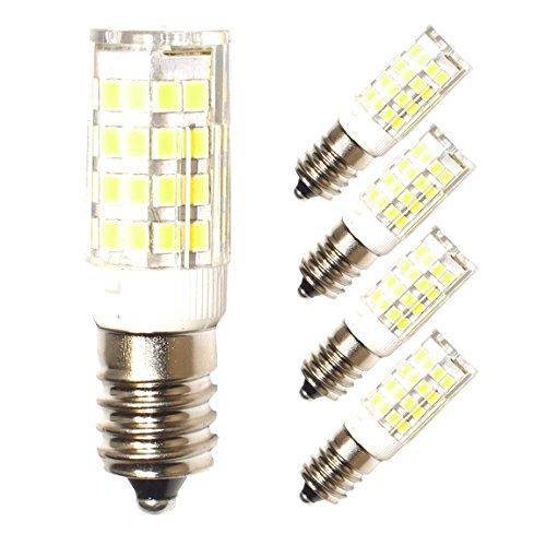 Lampaous 5W LED E14 Mais Lampe, ersatz für 40W Glühlampen, 6000K Kaltweiß 360°Abstrahwinkel 230VAC, LED Birnen Leuchtmittel Leuchte 4er Pack (230v Ersatz)