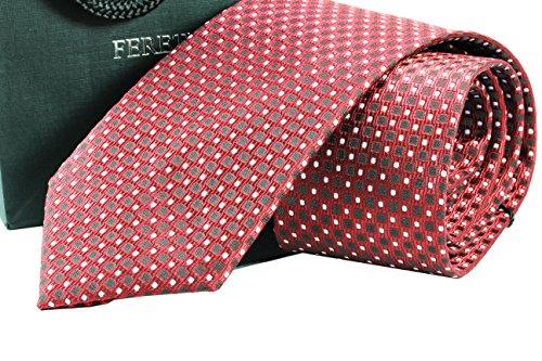fereti-corbata-hecho-a-mano-rojo-lunares-puntos