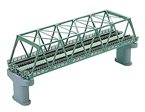 Tomytec N Gauge Double Track Truss Bridge Green Structure (F) 3052 (With This...