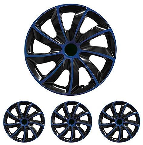 Radkappen Radblenden Radzierblenden Quad Blau 13 Zoll 13? R13 universal passend für fast alle Fahrzeuge mit Standardstahlfelgen z.B. Isuzu