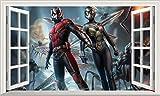 Chicbanners Ant-Man und der Wasp Ant Man 3D 6Selbstklebend Magic Wandtattoo Fenster Poster Wall Art Größe 1000mm Breit x 600mm Tief (groß)