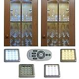 LED Unterbauleuchten 2er Set, mit wechsel der Farbtemperatur, Möbelleuchte, Schrankleuchte, Vitrinenlicht, Chromoptik, mit Fernbedienung, Weisswechsler Farbwechsel Farbtemperatur