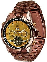 Lindberg & Sons Reloj Automático piraeus Acero/Golden/marrón colores