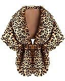 Damen Braut Schals Elegante Winter-Kunstpelz Ponchos Warmer Oberbekleidung Leopard