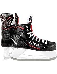 Bauer NSX Ice Hockey - Patines, negro/rojo, UK 6.5/EU 40.5/US 7.5