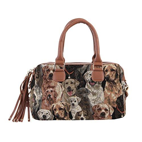 Signare sac d'épaule à poignée tapisserie mode femme Labrador