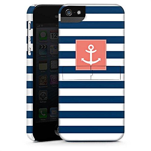 Apple iPhone 6 Housse Étui Silicone Coque Protection Ancre Bandes Maritime CasStandup blanc