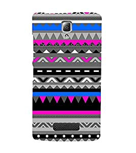 Fiobs Designer Back Case Cover for Lenovo A2010 (Snakes Colorful Design Pattern Triangles)