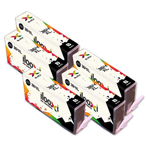 Ilooxi Kompatibel HP 364XL Druckerpatronen mit Chip zu HP Photosmart 5510 5511 5512 5514 5515 5520 5522 B8550 C5324 C5370 C5373 C5383 C309a C309g C310a C310c C410a B210d B210e Deskjet 3070A (5 Black) (Hp 5512 Photosmart)