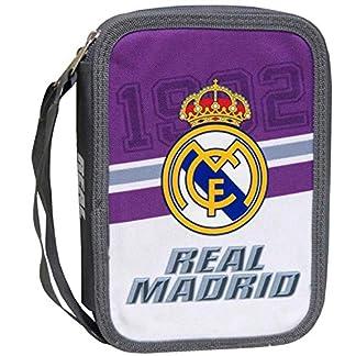 Real Madrid–Neceser con Fournitures scolaires 2compartimentos malva real Madrid club