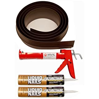 Auto Care Products Inc 52018 18-Feet Tsunami Seal Garage Door Threshold Seal Kit, Brown by Auto Care Products Inc.