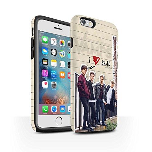 Offiziell The Vamps Hülle / Matte Harten Stoßfest Case für Apple iPhone 6+/Plus 5.5 / Pack 5pcs Muster / The Vamps Geheimes Tagebuch Kollektion Brad