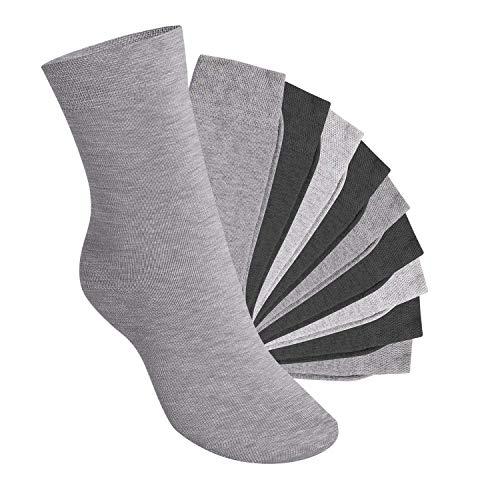 Footstar 10 Paar EVERYDAY! KIDS Kinder Socken - Classic Grey 31-34 -