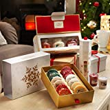yankee. Set Natale Christmas Regalo Gift Set 12 Tartine + Omaggio VOTIVO di FRAGRANZA Casuale