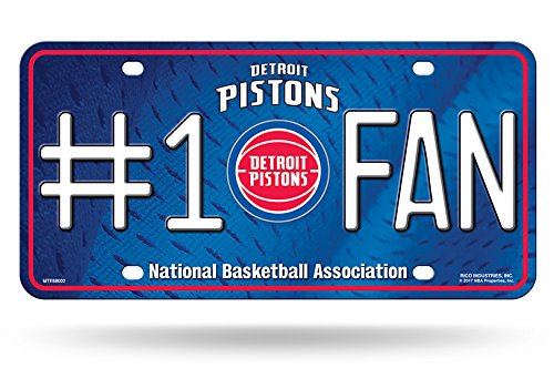 "Rico NBA Nummernschild #1, 1 Fan Metal License Plate Tag, Navy, 6"" x 12"""