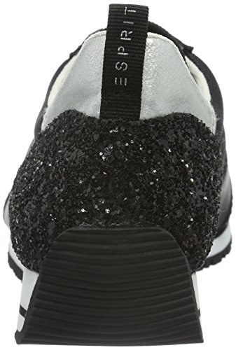 ESPRIT Jilly Lace Up, Scarpe da Ginnastica Basse Donna Nero (001 black)