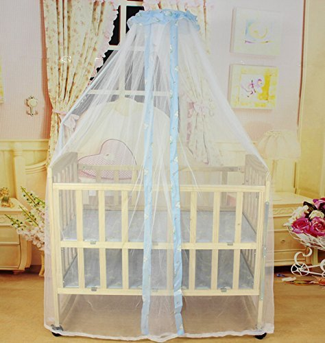 Bambino Bianco Halo Bug zanzariera per Toddler Bed Nursery Crib Canopy Culla Drape Blu - Canopy Toddler Crib