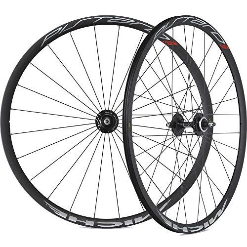 Laufradsatz Miche Pistard 622-15C für Drahtreifen, schwarz (1 Stück) -