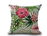 LK.8871 4PCS Kissenbezug aus Baumwolle und Baumwolle im Tropischen Stil 45 x 45 cm (ohne Kissen)