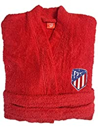 Atlético de Madrid. Albornoces con Licencia Oficial del Club.Unisex Algodón 100% (Talla XXL)