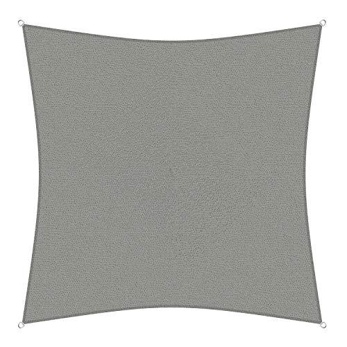 sunprotect Sonnensegel professional, 3,6 x 3,6 m, Quadrat, grausilber (1 Stück)