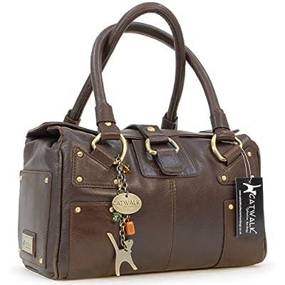 Catwalk Collection Handbags - Cuir Véritable - Sac Porté Main/Sac à Main/Sac porté épaule - Femme - CLAUDIA