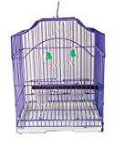 #6: Petshop7 Imported, Beautiful Cage For Birds Budgerigar, Finches, Love Birds-Purple (Small)