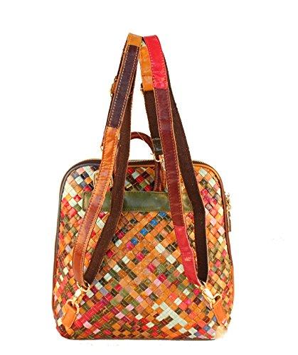 Plover Donna Mini Montone Borsa a spalla Zaini Borse Casual Daypacks Alunno Viaggio Multicolour