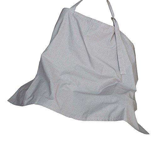 Kadambaby Breastfeeding cover , Nursing cover , Nursing apron for breastfeeding in public, 100% breathable cotton - grey print