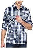 Bolt Men's Casual Shirt (bolt029, Blue, ...