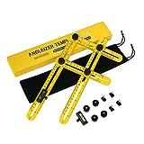 Règle Multi Angle Instrument de Mesure Outil de Modèle Angle-izer Multifonctionnel en ABS + Instrument de Nivellement pour les Constructeurs Artisans ou Ingénieur