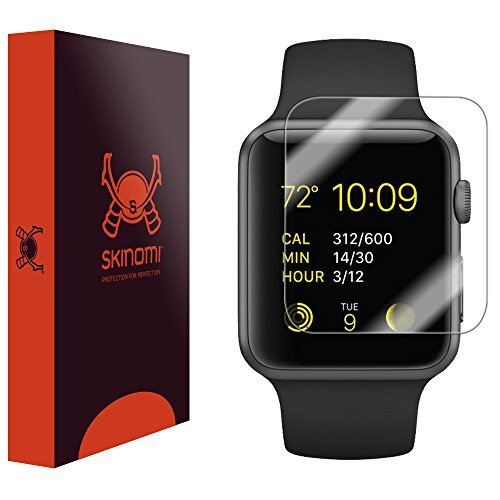 Skinomi TechSkin, Schutzfolie für Apple Watch (38 mm) und Apple Watch Series 3, wasserdicht, 6er Pack