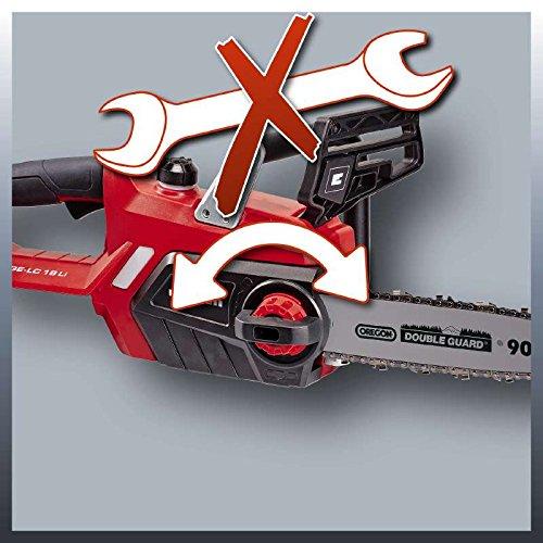 Einhell Akku Kettensäge GE-LC 18 Li Solo Power X-Change (Lithium Ionen, 18 V, 230 mm Schnittlänge, Oregon Kette und Qualitätsschwert, Kettenfangbolzen, ohne Akku und Ladegerät) - 6