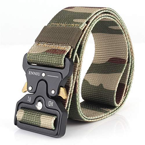 Yeying123 Tactical Belt Mens Military Nylon Waist Belt Mit Metal Buckle Adjustable Waistband Für Combat Equipment Army Training Outdoor Jagd,Camouflage3 (Training-equipment Combat)