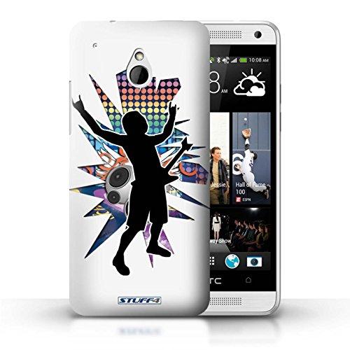 Kobalt® Imprimé Etui / Coque pour HTC One/1 Mini / Atteindre Blanc conception / Série Rock Star Pose Rock n Roll Blanc