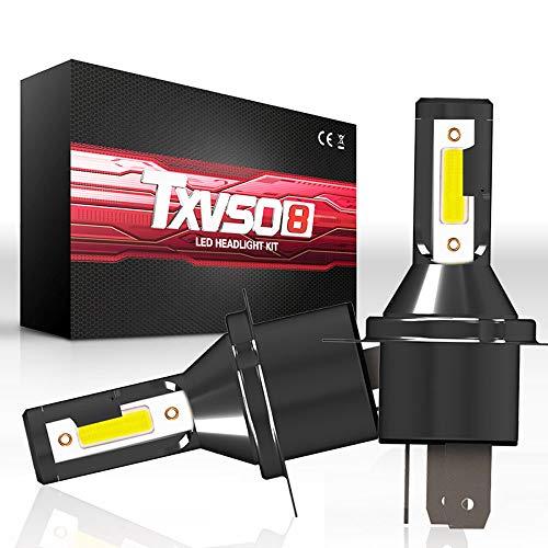 Lampadine LED h4 Auto,Lampade Auto h4,Hi/Lo Fascio LED Lampadine Faro Conversion Kit, H4 Moto LED Lampadina Faro Lampadina Moto COB Luce 6000K 110W 26000LM Bianco Freddo Luminoso 1 Paia