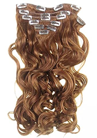 All Colours Extra Long Quality Extensions Set Looks Real Hair Extension Ginger (or Fire Red) 24 Inch Extra