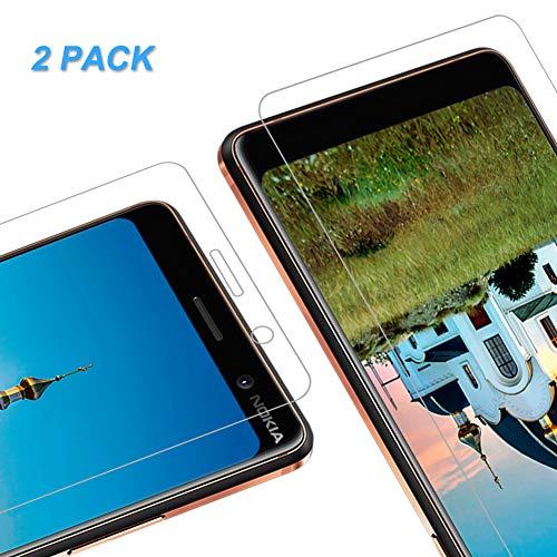 Vkaiy [2 Stück Panzerglas Schutzfolie kompatibel mit Nokia 7 Plus, 9H Härte, Anti-Kratzen, Anti-Öl, Anti-Bläschen Bildschirmschutzfolie für Nokia 7 Plus
