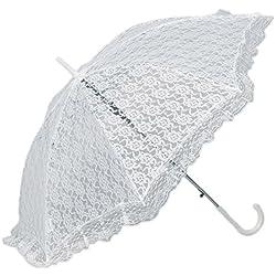 Parasol novia - encaje Blanco