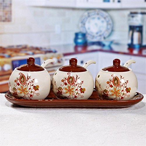 Gewürzdose Gewürzdosen Gewürzflasche Europäische Kreative Keramik Küche Liefert Kochen und Essen -250ml , 5