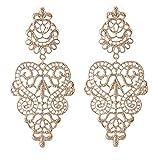 Lange gold farbene viktorianische Vintage Barock Spitzen Ohrringe / Ohrhänger. Linayo® Gift For The Person Who You ? Love ?